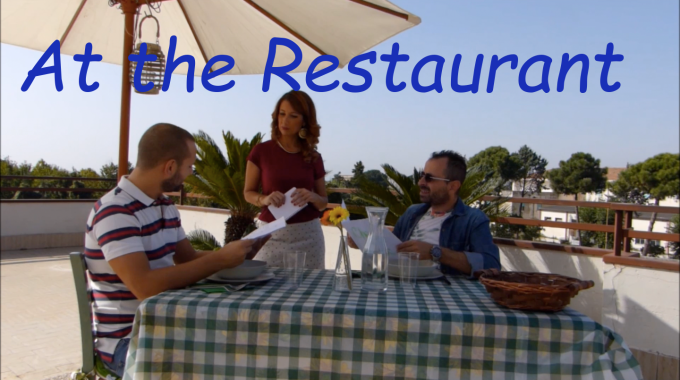 Learn Italian online: New video! At the restaurant!
